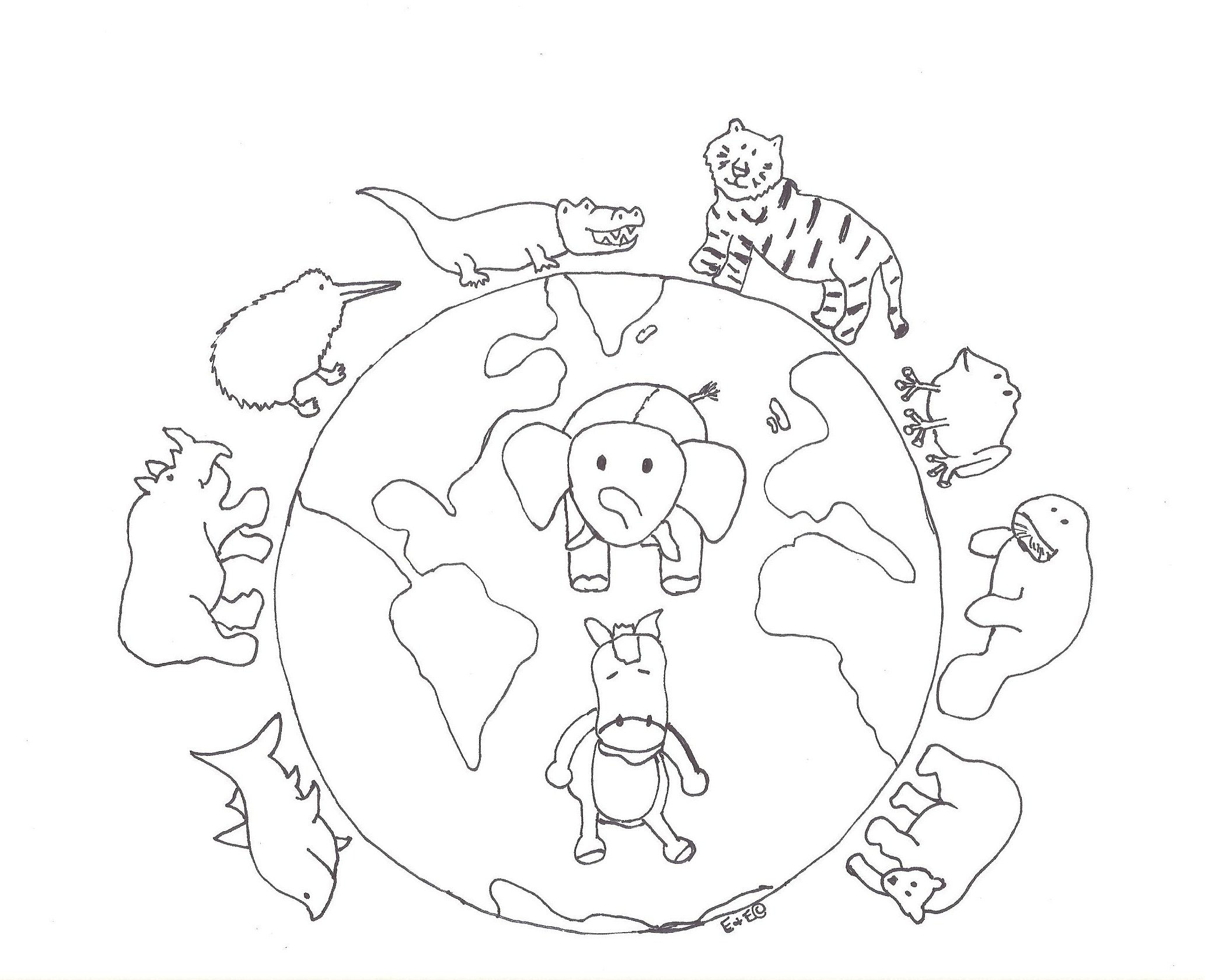 Biodiversity Coloring Coloring Pages