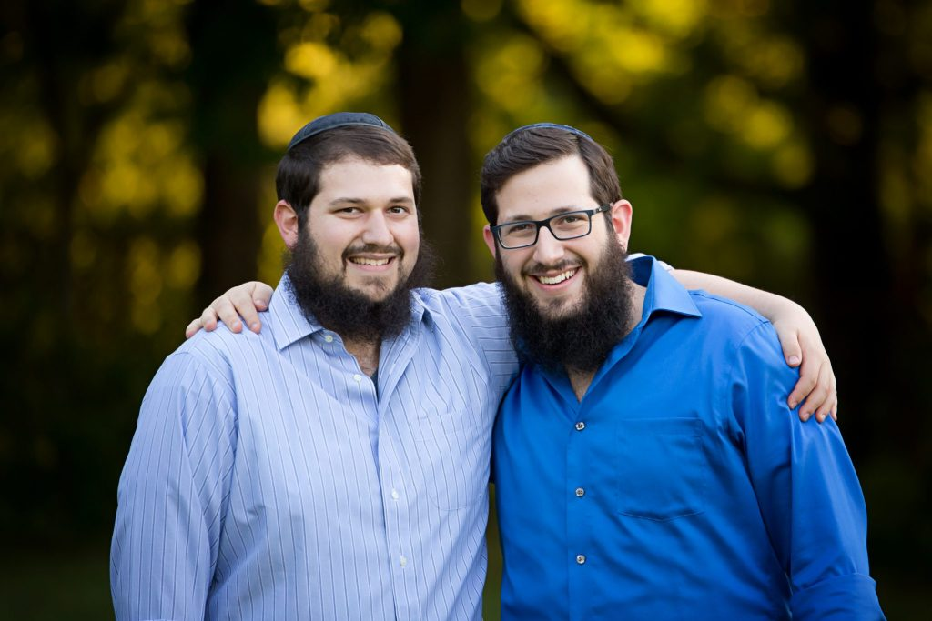 The Eleff brothers, pose together at their Beachwood headshot session