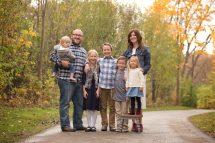 family in park in beachwood in the fall
