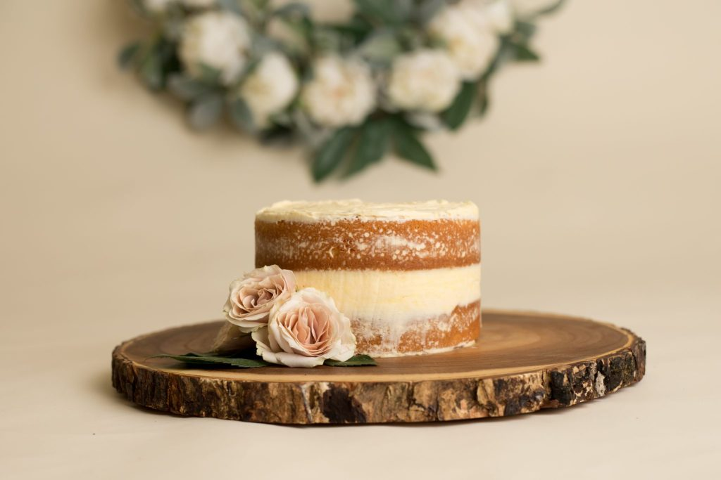 "beautiful ""naked"" smash cake"