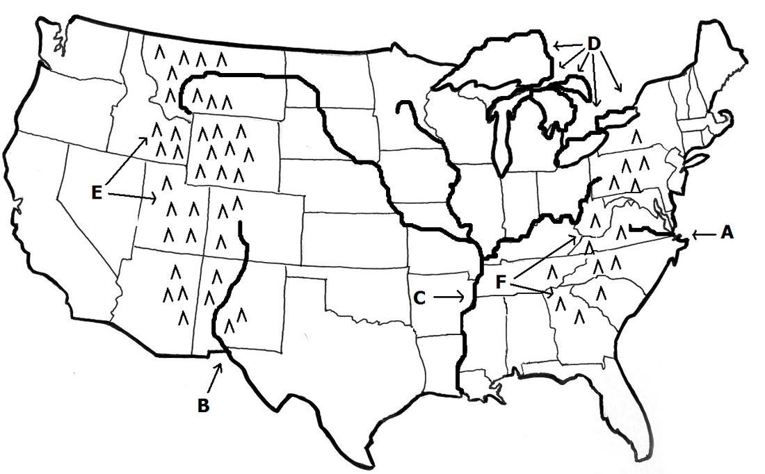 Blank Us Map With Rivers And Mountain Ranges - Auto ...