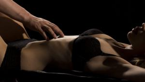 romance ellie masters man touching woman