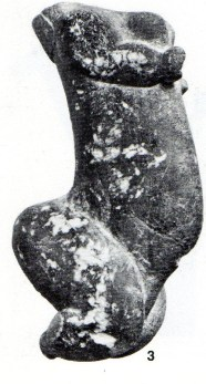 Venus of Sireuil (Dordogne). Calcite. Palaeolithic (Gravettian). Musee des Antiquites Nationales, St-Germain-en-Laye