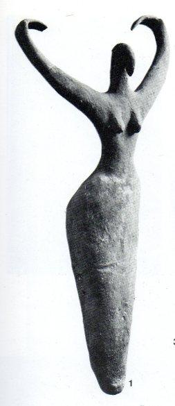 Magic Figurine. Terrocotta. Prehistoric. Brooklyn Museum, New York, P21.