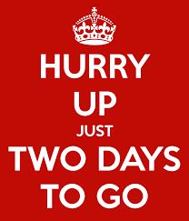 2 Days to go - Ellie Sanderson