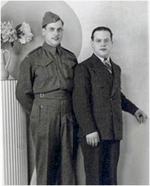 Bdr. George Meltz, Royal Canadian Artillery, and brother, in Toronto.