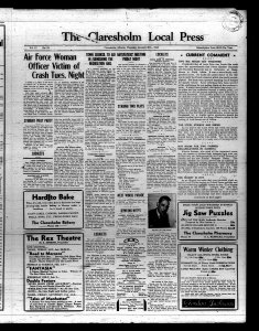 Claresholm newspaper