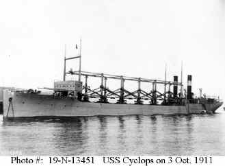 USS Cyclops πηγή: US Naval Historical Center