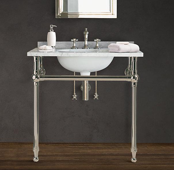 Master Bathroom Console Sink  elliondecor