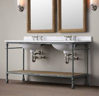 Master Bathroom Console Sink | elliondecor