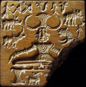 Seal of Pashupati (possibly Shiva)