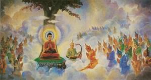 """Buddha preaching Abhidhamma in Tavatimsa"" by Hintha - Own work. Licensed under CC BY-SA 3.0 via Wikimedia Commons - https://commons.wikimedia.org/wiki/File:Buddha_preaching_Abhidhamma_in_Tavatimsa.jpg#/media/File:Buddha_preaching_Abhidhamma_in_Tavatimsa.jpg"