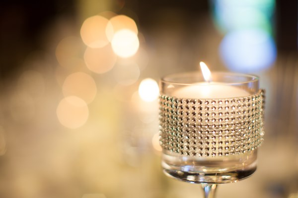 stemware, candle, bling