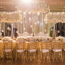 luxury florals, white and gold wedding, bling