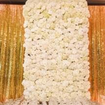 flower wall, bar swag