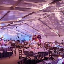 tent wedding, ceiling lighting