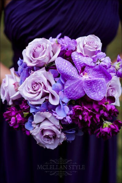 purple and lavender bouquet, memphis wedding