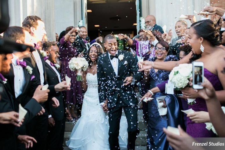 just married, bride, groom