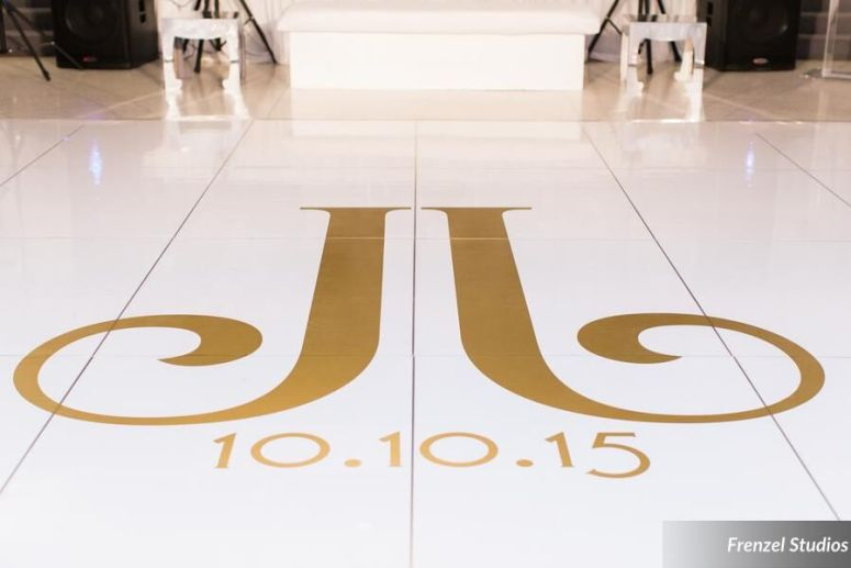 monogram, dance floor, luxury wedding