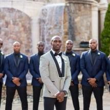 groomsmen, nfl wedding