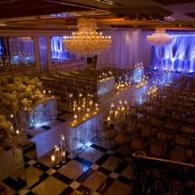 white and purple wedding ceremony