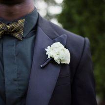 nfl groom, nil wedding, boutonniere