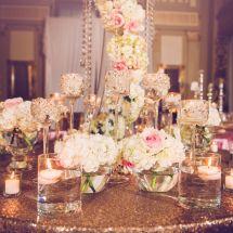 bling, stemware, floral
