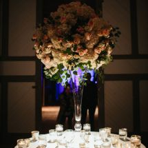 centerpiece, candles, reception