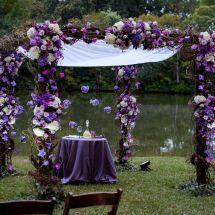purple chuppah, memphis wedding planner