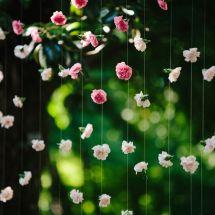 ombre flower cascade, altar