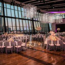 reception, nashville view, chandelier