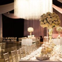 chandelier, table scape, centerpieces