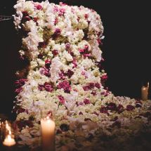 cascading flowers, sweetheart table, luxury designs