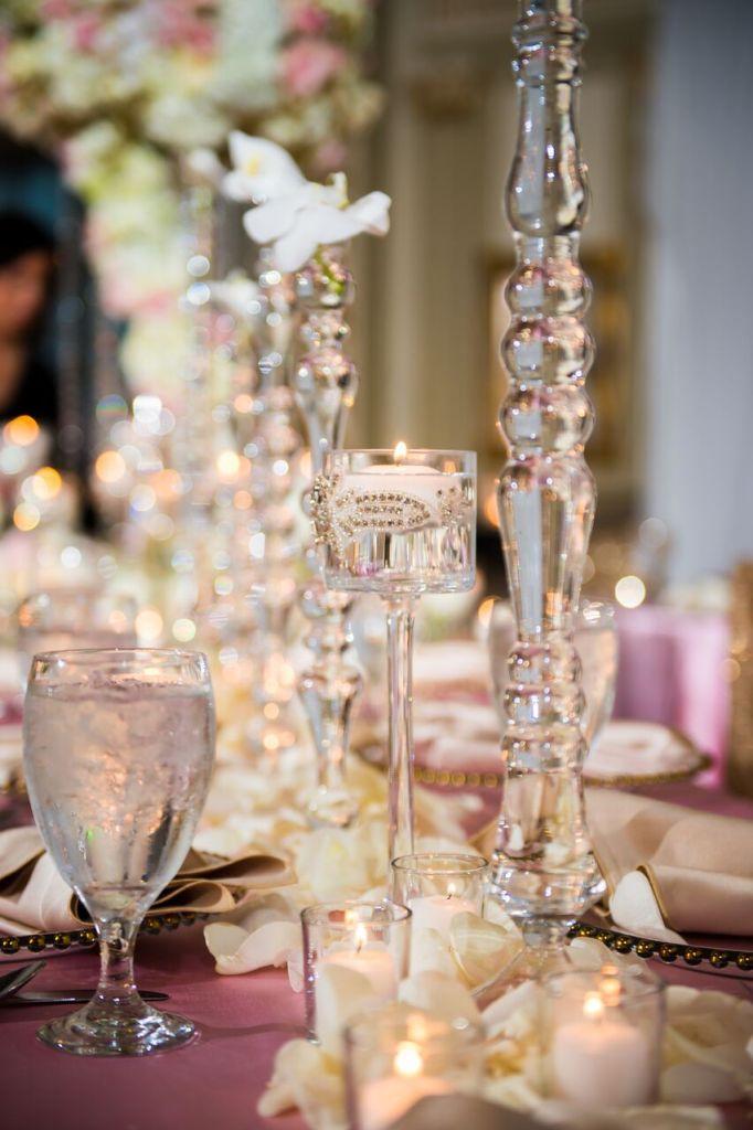 stemware, orchids, memphis wedding planner