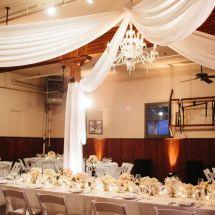 chandelier, ceiling drape, venue