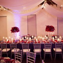 ruby nashville, nashville wedding, red decor