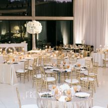 reception, white and gold, wedding, white florals