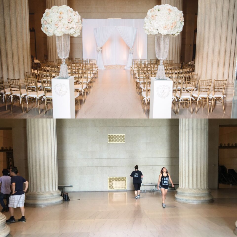 ceremony, before and after, museum wedding