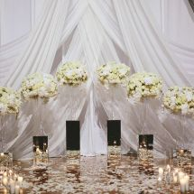 draping, floral, centerpieces, ceremony