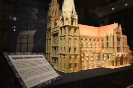A cathedral made of match sticks, there's even a hunchback in the bell tower.