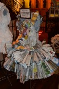 This dress is always up to date...cause it's made out of newspapers.