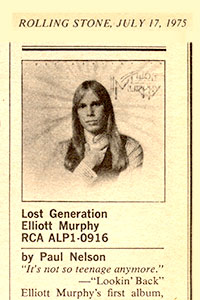 Elliott Murphy - Lost Generation Rolling Stone Review