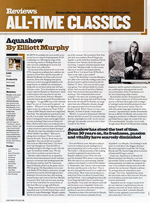 Elliott Murphy - Uncut Aquashow Review