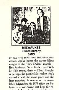Elliott Murphy - Milwaukee Rolling Stone Review