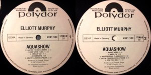 Elliott Murphy - Aquashow - German Promotional Pressing