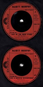 Elliott Murphy - Last Of The Rock Stars - UK 45