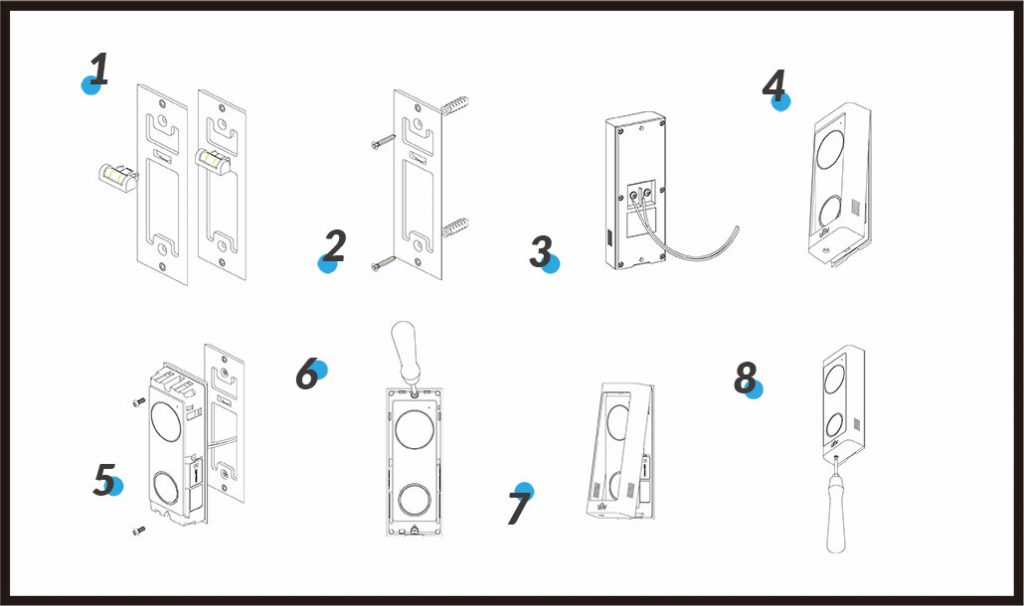 URDB1 Video Doorbell from Uniview, 2 Way Audio, Wifi
