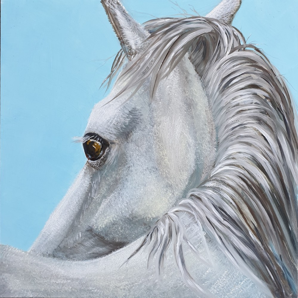 White Horse oil painting