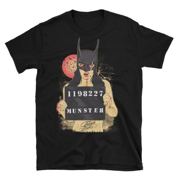 Elliz Clothing Batman mask Girl Mugshot T-Shirt
