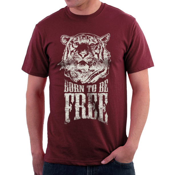 Elliz Clothing Born to be free tiger t-shirt